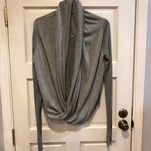 Lululemon Iconic Gray Stripe Sweater Pullover Wrap